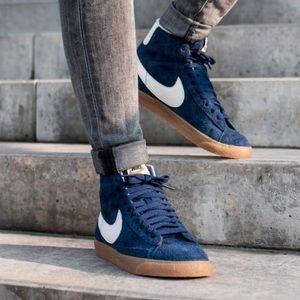 Nike blazer mid suede vintage blue